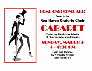 New Haven Oratorio Choir Cabaret