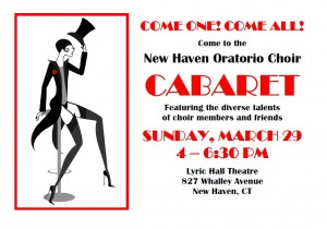 New Haven Oratorio Choir Cabaret