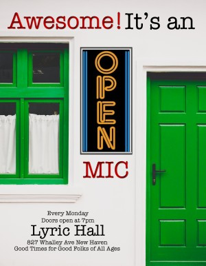 Awesome! It's an Open Mic