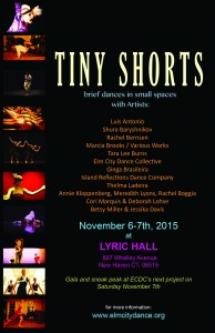 Tiny Shorts_Artist Line-up_poster